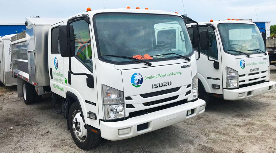 HOA Landscaping trucks