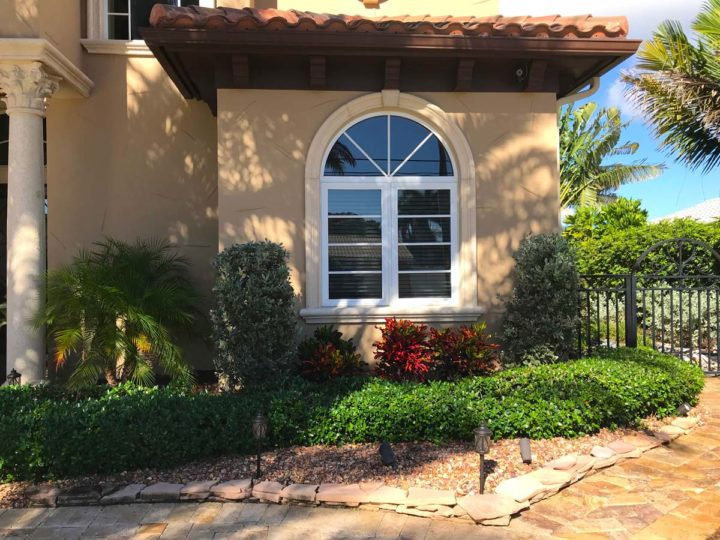 Residential landscaping in Lake Worth